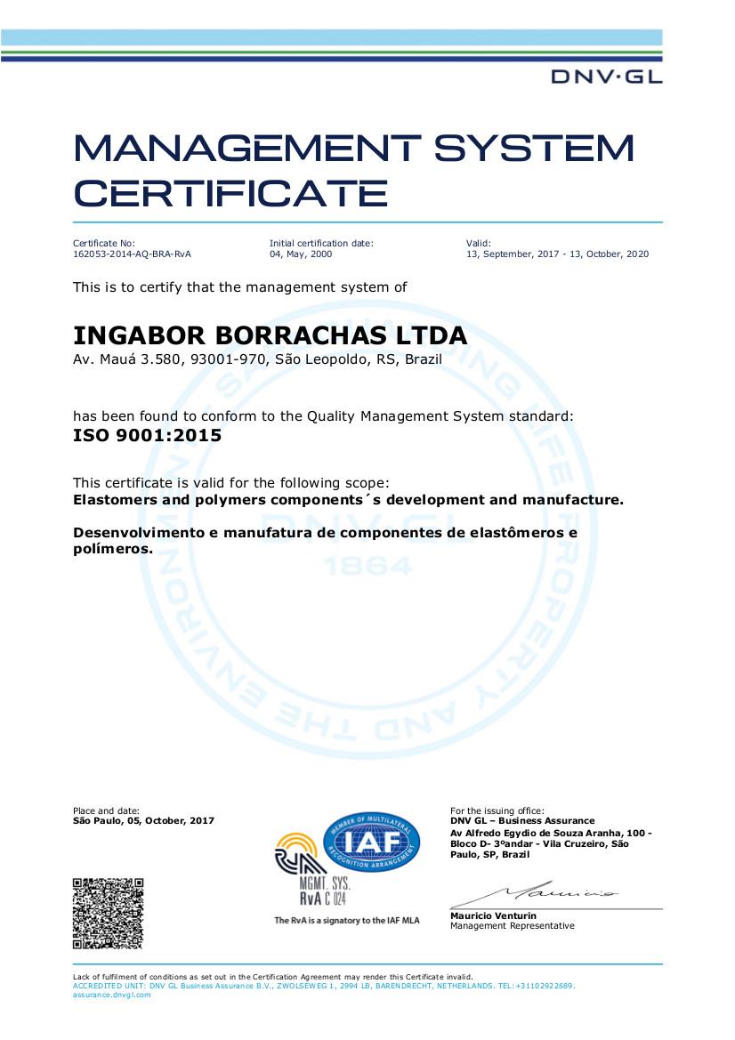Certificado ISO 9001 / 2008